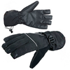 Перчатки Norfin с фиксаторами на запястьях (черные с PU мембраной) - фото 1