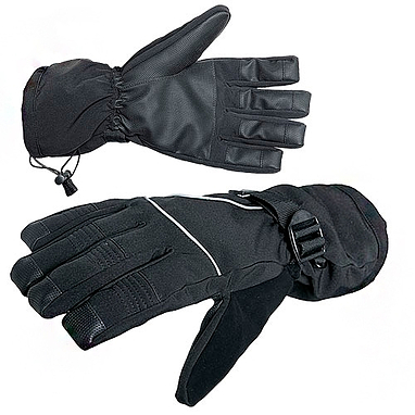 Перчатки Norfin с фиксаторами на запястьях (черные с PU мембраной)