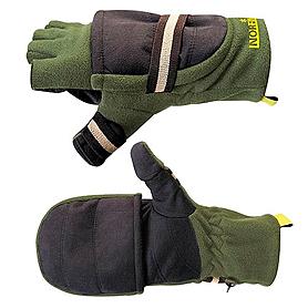 Перчатки–варежки отстегивающиеся Norfin (серо-черные)