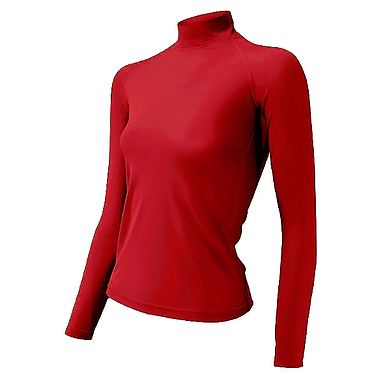 Термофутболка женская с длинным рукавом Lasting Sery (красная)