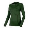 Термофутболка женская с длинным рукавом Lasting Atala (темно-зеленая) - фото 1