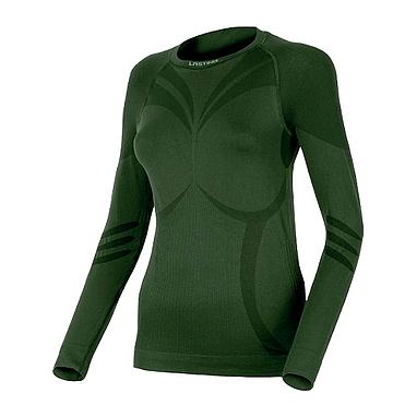 Термофутболка женская с длинным рукавом Lasting Atala (темно-зеленая)
