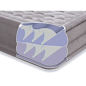 Фото 3 к товару Кровать надувная ортопедическая двуспальная Intex Ultra Plush Bed (203х152х46 см)