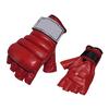 Перчатки без пальцев кожаные Everlast (красные) - фото 1