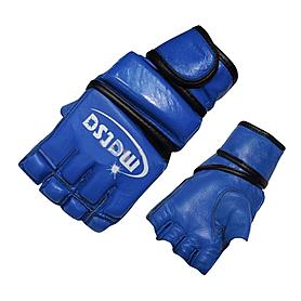 Перчатки без пальцев кожаные Matsa (синие)