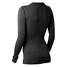 Фото 2 к товару Термофутболка женская с длинным рукавом Norveg Soft Shirt (черная)