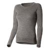 Термофутболка женская с длинным рукавом Norveg Soft Shirt (серая меланж) - фото 1