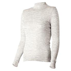 Термофутболка женская с длинным рукавом Norveg Wool+Silk (серая меланж)