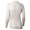 Термофутболка женская с длинным рукавом Norveg Wool+Silk (серая меланж) - фото 2