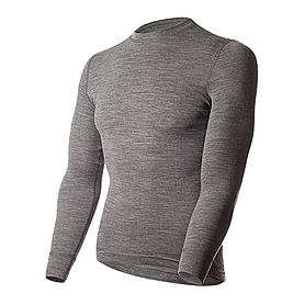 Термофутболка мужская с длинным рукавом Norveg Soft Shirt (серая меланж)