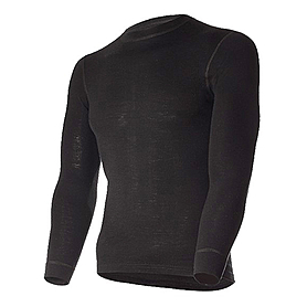 Термофутболка мужская с длинным рукавом Norveg Soft Shirt (черная) - L