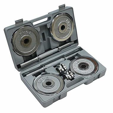 Гантели наборные хромированные FitLogic 2 шт. по 10 кг