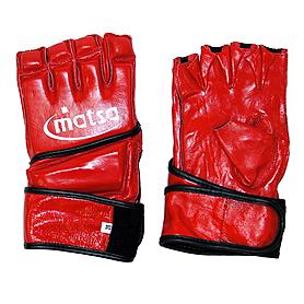 Фото 1 к товару Перчатки без пальцев кожаные Matsa (красные)