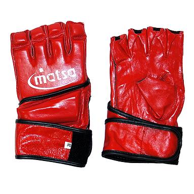 Перчатки без пальцев кожаные Matsa (красные)