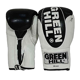 Фото 1 к товару Перчатки боксерские кожаные Green Hill Bridg