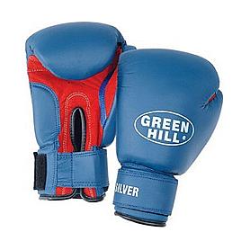 Фото 1 к товару Перчатки боксерские Green Hill Silver синие