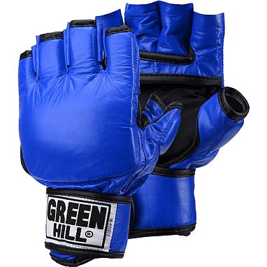 Перчатки снарядные без пальцев Green Hill (синие)