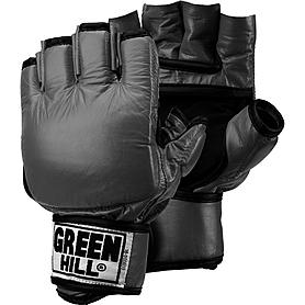 Перчатки снарядные без пальцев Green Hill (черные) - M