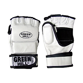 Перчатки снарядные без пальцев Green Hill (белые)