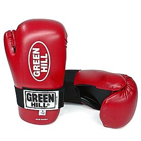 Фото 1 к товару Перчатки для кикбоксинга Green Hill Semicontact (красные)
