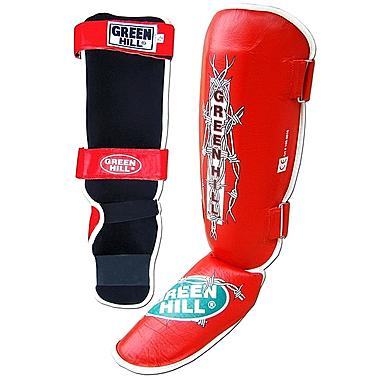Защита для ног (голень+стопа) Green Hill Barb (красная)