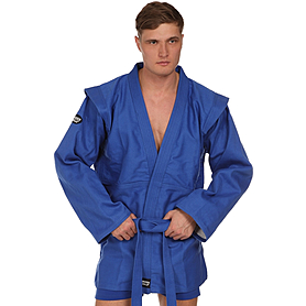 Куртка для самбо Green Hill синяя - 160 см