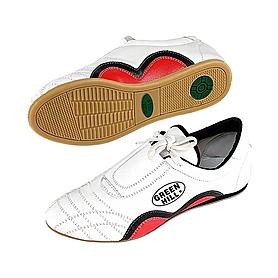 Обувь для тхэквондо (степки) кожаная белая Green Hill