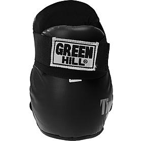 Фото 3 к товару Футы для кикбоксинга кожаные Green Hill Tiger черные
