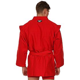 Фото 2 к товару Куртка для самбо Green Hill красная