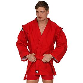 Куртка для самбо Green Hill красная - 175 см