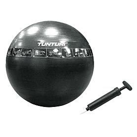 Фото 1 к товару Мяч для фитнеса (фитбол) 65 см с рисунками упражнений Tunturi