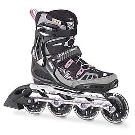 Фото 1 к товару Коньки роликовые женские Rollerblade Spark XT 84 W 2013 черно-розовые - р. 35,5