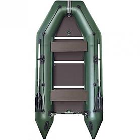 Лодка килевая моторная Kolibri КМ-330Д+жесткое дно с алюмин. профилем