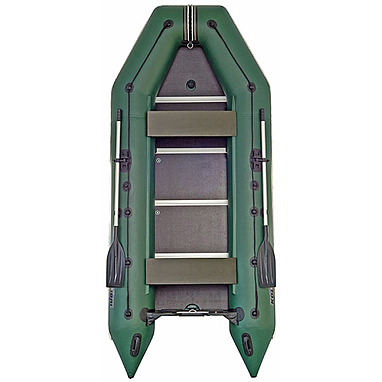 Лодка килевая моторная Kolibri КМ-360Д+жесткое дно с алюмин. профилем