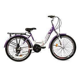 """Велосипед городской женский Ardis Santana New 24"""" белый с фиолетовым, рама - 15"""""""