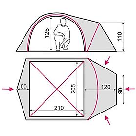 Фото 2 к товару Палатка трехместная Terra Incognita Zeta 3 камуфлированная