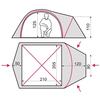 Палатка трехместная Terra Incognita Zeta 3 камуфлированная - фото 2