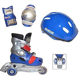 Коньки роликовые Kepai LY2213 + шлем и защита Blue