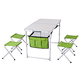 Фото 1 к товару Стол раскладной + 4 стула Кемпинг ТА-484 + 4 стула