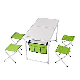 Фото 2 к товару Стол раскладной + 4 стула Кемпинг ТА-484 + 4 стула
