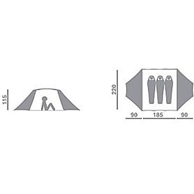 Фото 2 к товару Палатка трехместная Hannah Covert AL Red