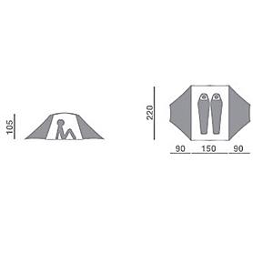 Фото 2 к товару Палатка двухместная Hannah Covert AL S Green