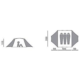 Фото 2 к товару Палатка трехместная Hannah Covert