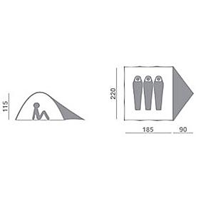 Фото 2 к товару Палатка трехместная Hannah Serak AL Green