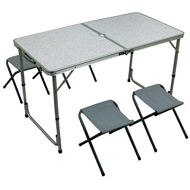 Стол складной + 4 стула TO-8812F