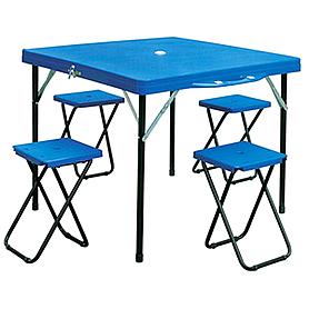 Фото 1 к товару Стол складной + 4 стула TO-8833