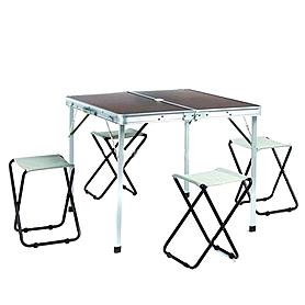 Фото 1 к товару Стол складной + 4 стула TO-8833-A