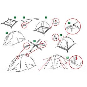 Фото 2 к товару Палатка четырехместная Rondo 4 Alexika