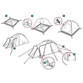 Фото 4 к товару Палатка трехместная Zamok 3 Alexika