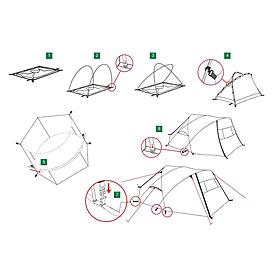 Фото 2 к товару Палатка двухместная Freedom 2 Plus Alexika